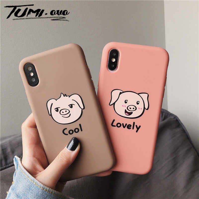 Matte Pig Soft tpu Cases For Huawei P10 Plus P20 Pro P30 Lite Mate 10 20 Pro Nova 2s 3 3i 4 4e Honor 9 10 10i 8A 8C 8X 7X 7C