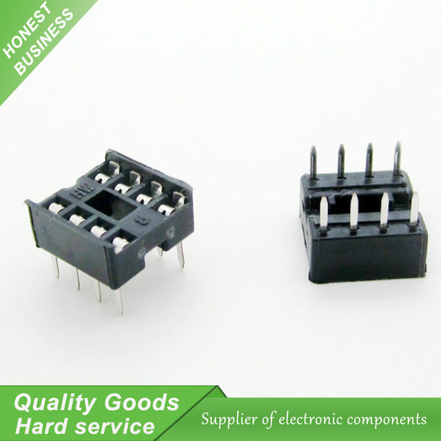20PCS 8pin DIP IC sockets Adaptor Solder Type 8 pin New Original Free Shipping(FK)