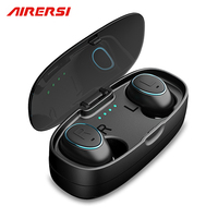 HTK18 TWS Invisible Mini Headphones 3D Stereo Hands free Noise Reduction Bluetooth Headset Wireless Earphones and Power Bank box