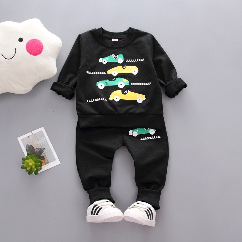 Autumn Kids Clothes Set Fashion Car Letter Printed Children Clothing Boys Winter Clothes For Kids newborn toddler winter clothes kids autumn clothes fashion letter printed boys t shirt set casual children clothing girl winter clothes for kids baby clothing