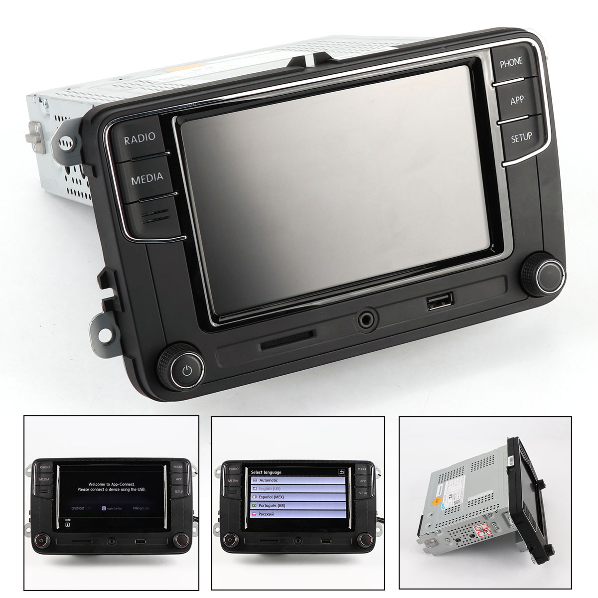 6.5'MIB Carplay Android Auto Noname Radio RCD340G For VW Tiguan Golf 5 6 MK5 MK6 Passat Polo 6RD 035 187 B 6RD035187B carplay mirror link mib carplay usb aux in socket harness for tiguan l mk2 5q0 035 726 e