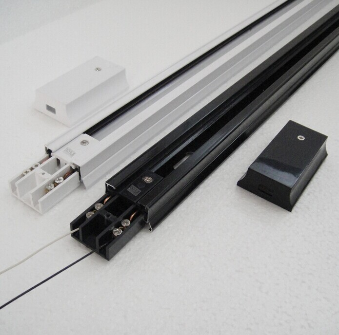 Aluminum led track lighting rail 1m connectortrack railuniversal aluminum led track lighting rail 1m connectortrack railuniversal two wrie rails track accessories with end cap track lamp rail in track lighting from aloadofball Choice Image