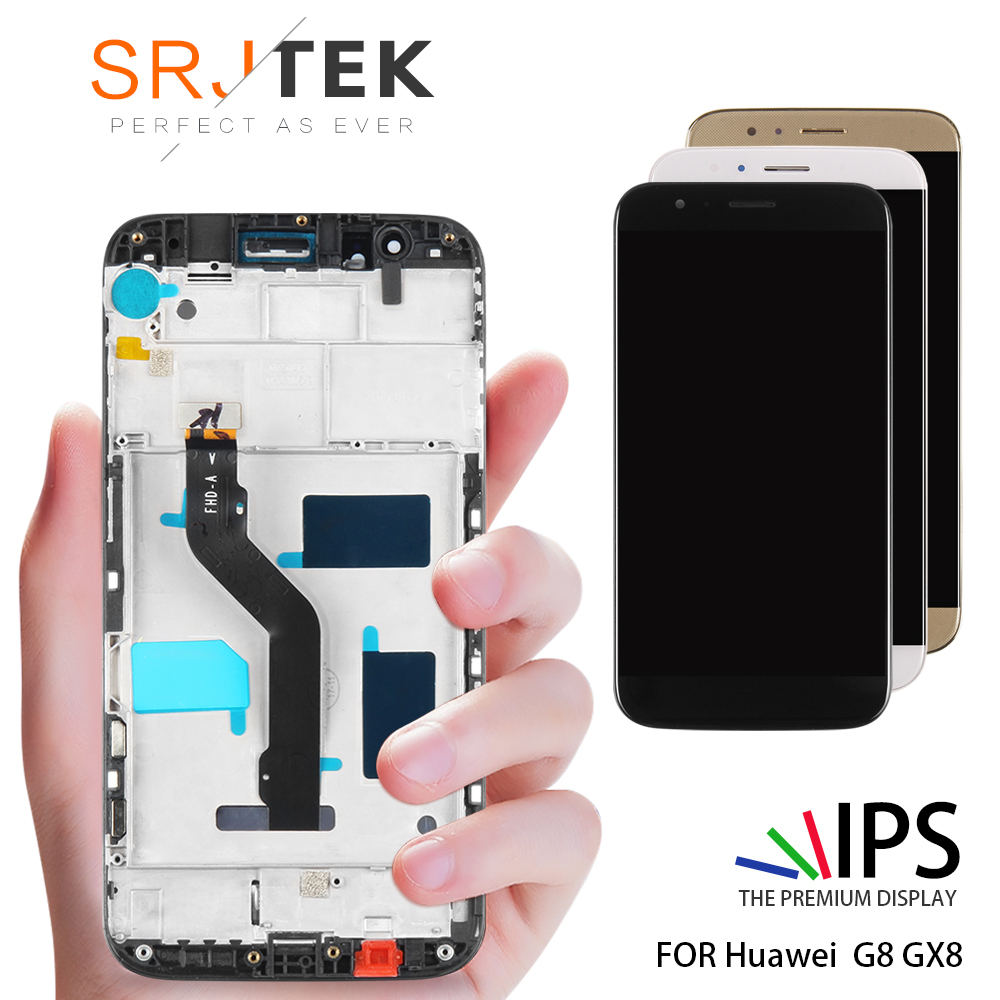 For Huawei G8 LCD Display Touch Screen Digitizer Assembly with Frame Black White Golden Screen Replacement GX8 RIO-L02 RIO-L01For Huawei G8 LCD Display Touch Screen Digitizer Assembly with Frame Black White Golden Screen Replacement GX8 RIO-L02 RIO-L01