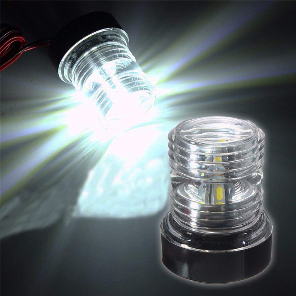 360 Degree Marine Boat Navigation Anchor Light Super Bright 12 V All Round Boat Light White Lamp 6300K LED Navigation Light