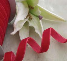 """10Y 3/8 """" Velet arte de la cinta / de la boda / fiesta Red R0009"""