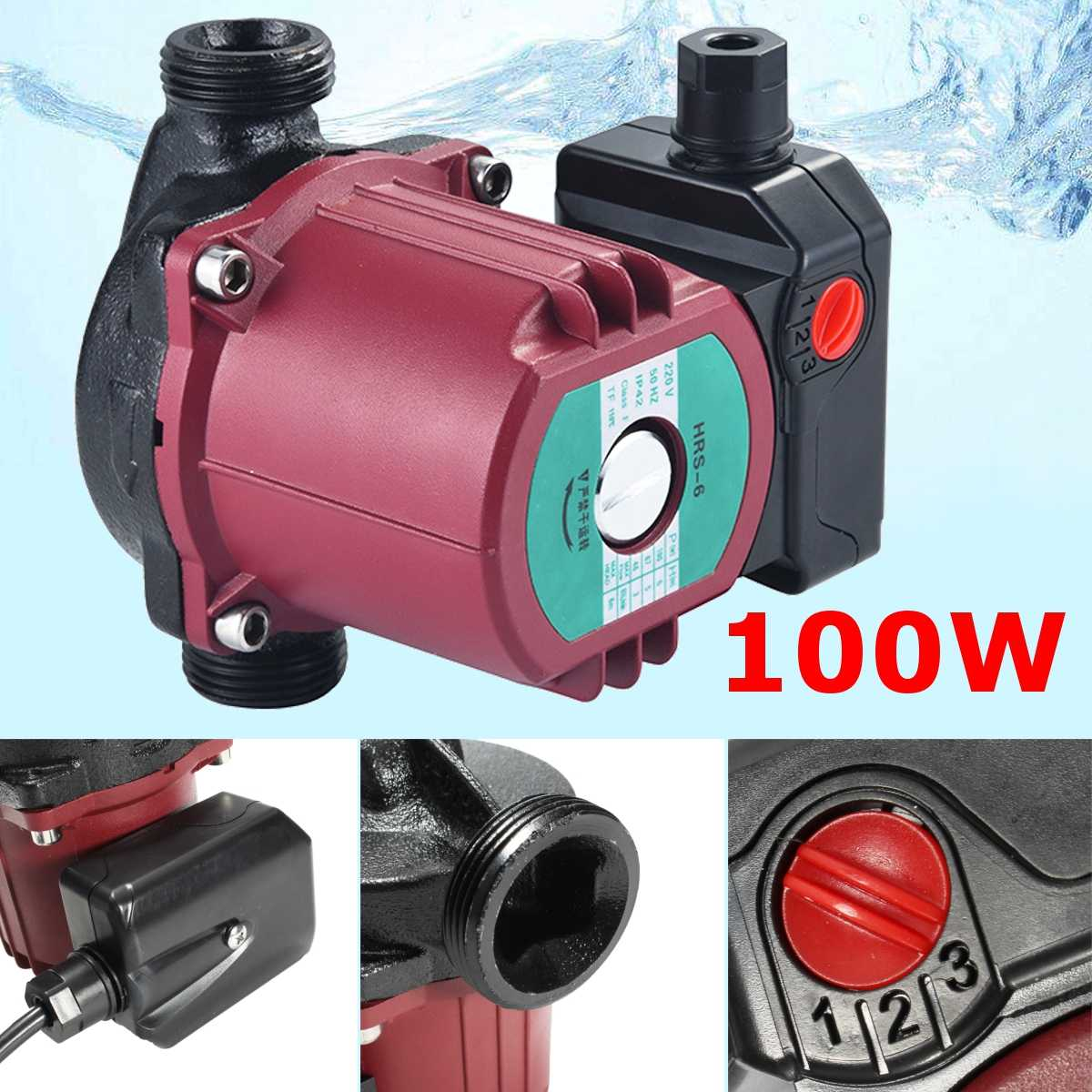 100W Pump 1.5-inch Floor Heating And Large Flow Shield Pump Central Heating Circulation Pump