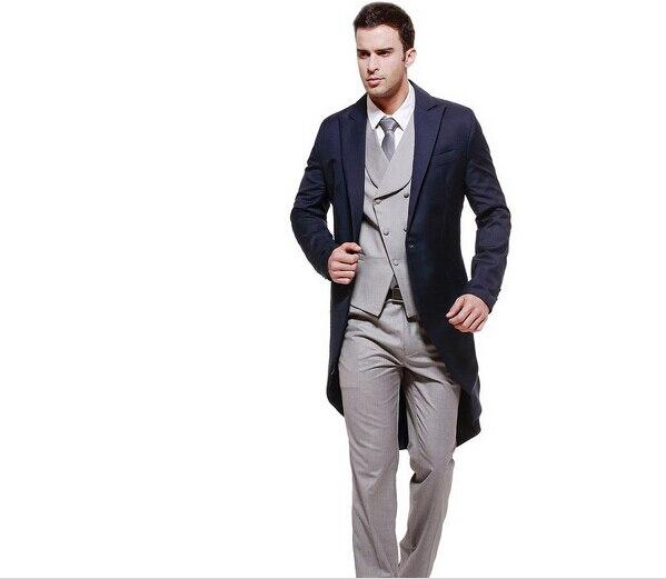 e143e9465d Vendedora superior por encargo trajes vestidos de hombre moderno ocasión  formal trajes esmoquin hombres de piezas traje chaqueta de la chaqueta Tux  ...