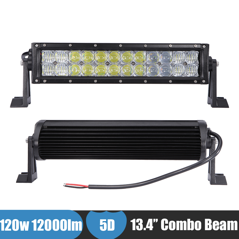 120w 5D LED Ligt Bar Spot Flood Combo Work Driving Lamp Car Bumper Light ATV UTE SUV Bar Offroad 4x4 4WD 12v 24v Auxiliary Light