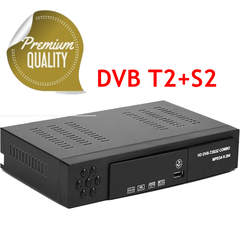 2018 MPEG4 DMYCO DVB T2+S2 HD Digital Satellite receiver TV Tuner Receivable MPEG4 Free Shipping Support bisskey dvb t2 dvb s2