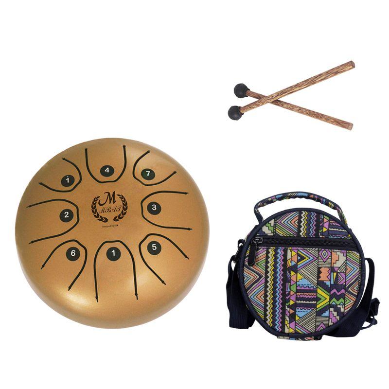 Haute qualité 5.5 pouces C clé langue tambour Mini 8 tons en acier Portable main Pan tambour Instrument à Percussion