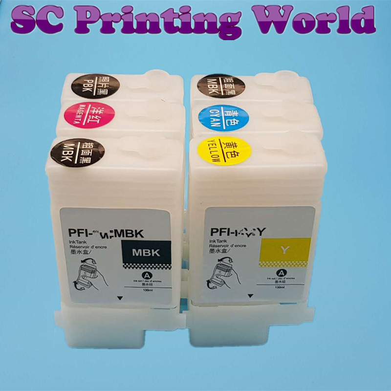 130ML Refillable Ink Cartridge for Canon IPF670 IPF680 IPF685 IPF770 IPF780 IPF785 IPF-670 IPF-770 IPF 670 770 PFI107
