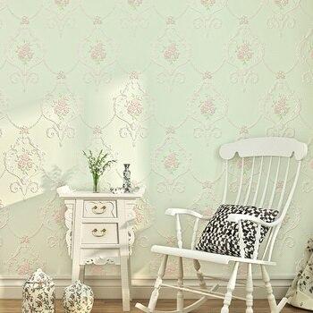 Schlafzimmer Tapetenentwürfe | Tapete 3D Geprägt Nicht-woven Tapeten Luxus Pastoralen Floral Wand Papier Wandbild Design Schlafzimmer Tapete Designs Wohnkultur