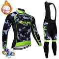 Зимний флисовый комплект для велоспорта 2020 с длинным рукавом, одежда для горного велосипеда, одежда для велоспорта, одежда для велоспорта