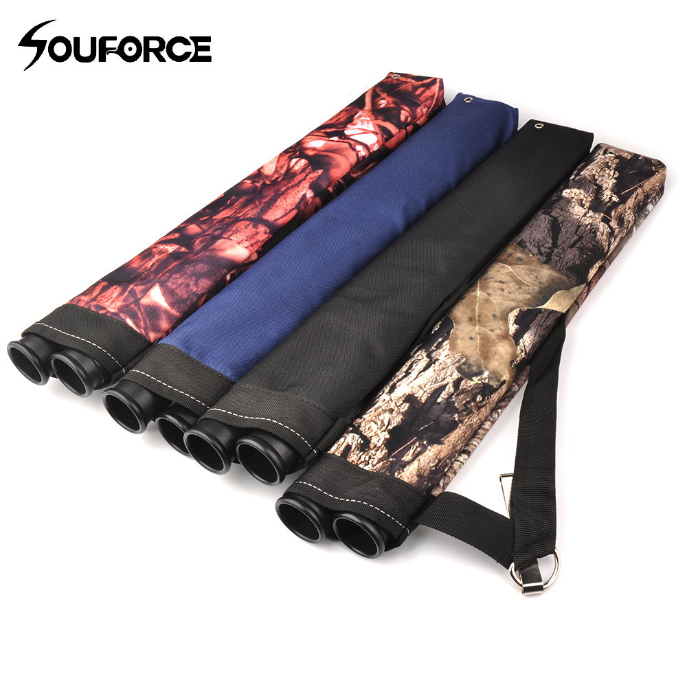 4 Color Arrow Quiver with 45*8.5cm Oxford Cloth Arrow Bag 2 Point Single Shoulder for Archery Hunting Shooting Archery arrow bag microfiber 4 tube 2 color arrow quiver for arrow holder archery hunting shooting free shipping