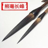 2pcs/lot Chinese Calligraphy Brush Chinese Painting Brush Pen Chinese Ink Brush Long Hair Writing Brush Pen Mo Bi Bear Hair