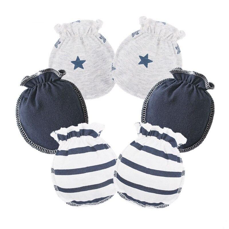 Cotton Boy Girl gloves 4Pair Baby Socks Toddler Set Anti Scratch Handguard