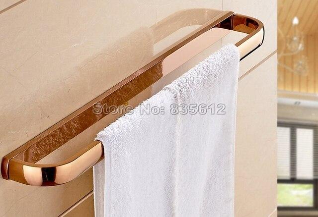 Badkamer Accessoires Goud : Rose goud kleur messing badkamer accessoires wandmontage enkele