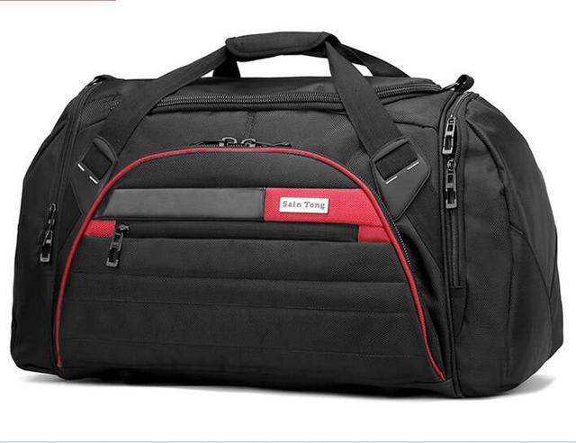 Cheap hot saco de ombro grande capacidade de bagagem de viagem saco de viagem saco de viagem à prova d' água masculino Oxford saco de pano mão YY2359