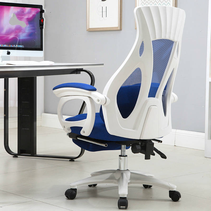 Household Computer Chair Multifunction Lift Swivel Massage Chair Lying Healthy Office Boss Chair with Footrest Mesh Seat in Office Chairs from Furniture