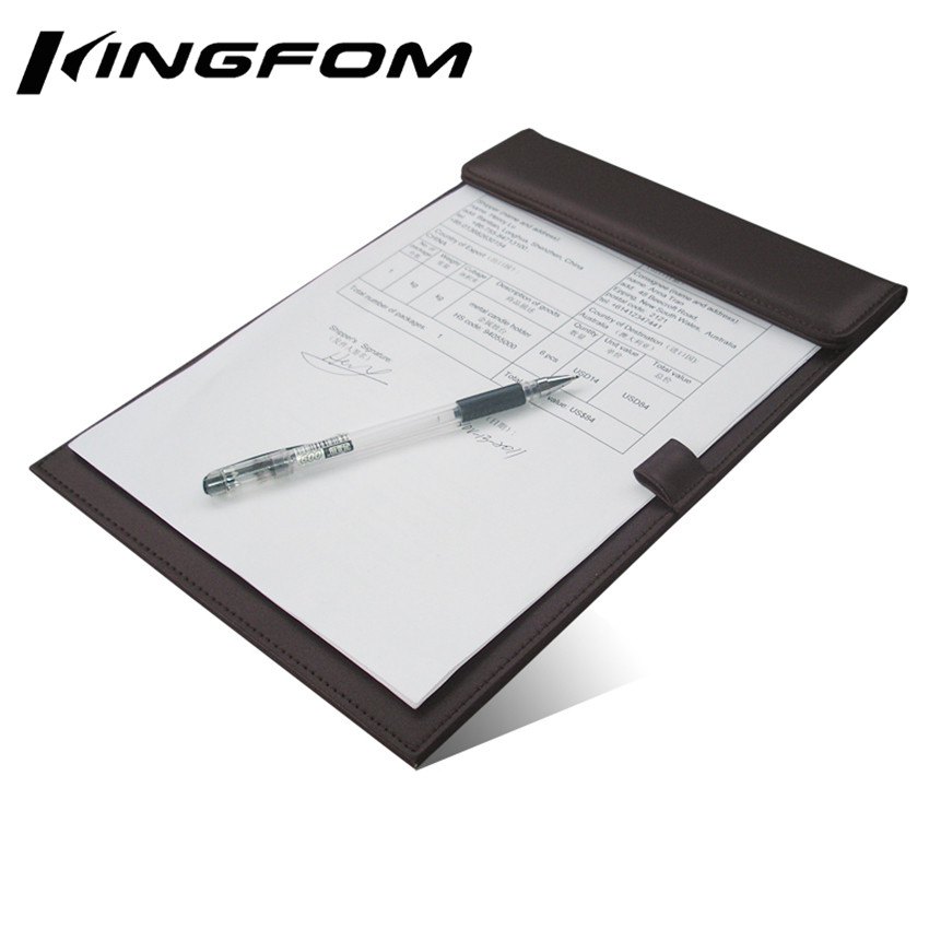 clipboard office paper holder clip. Magnetic Office Desktop Leather A4 File Paper Clip Folder Drawing \u0026 Writing Board Tablet Pad With Pen Holder Black A206-in Clipboard From School