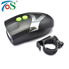 TOS LED Bike Light Bicicleta bike accessories Bicycle Light White Front Head Light Cycling Lamp + Electronic Bell Horn