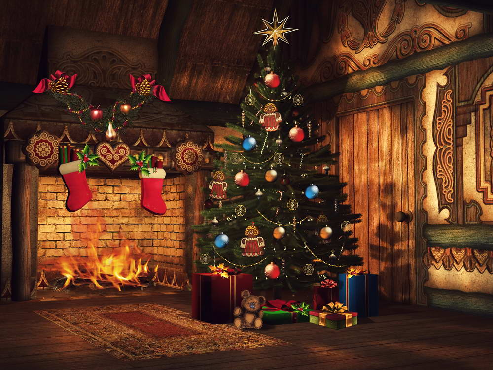 Christmas tree decoration for photo background fabric fireplace photography backdrop for kids photo studio portrait background christmas tree photography background christmas lights fireplace wall decors backdrop xt 4525