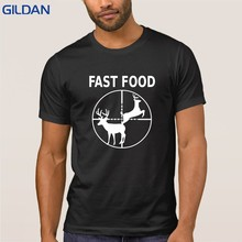276af592 Funny Men's T Shirt 2018 Fast Food Hunting Hunter Deer Buck T Shirts S -  XXXL 100% Cotton Printed Cool Hip Hop Clothes