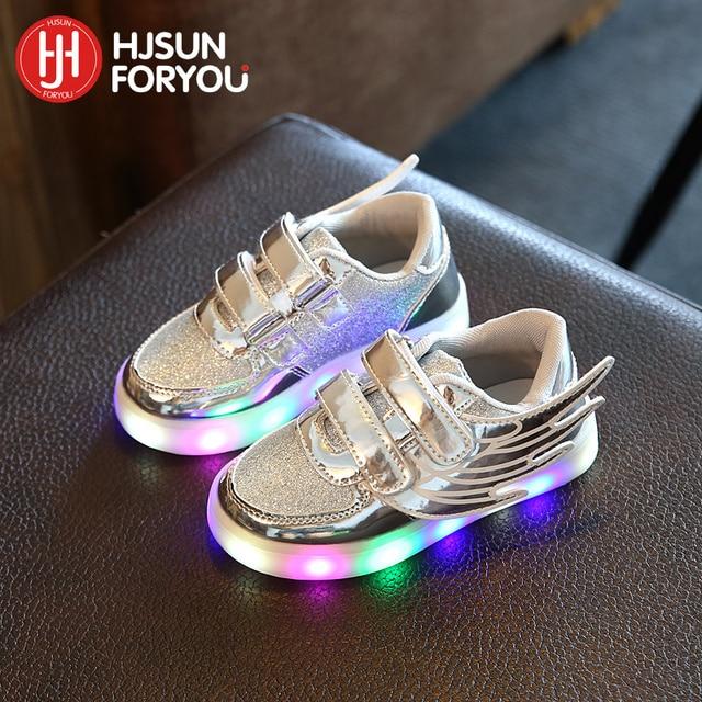 3897f9e255dfd 2018 enfant chaussures filles garçons baskets mode avec LED clignotant  éclairé enfants chaussures enfants chaussures de