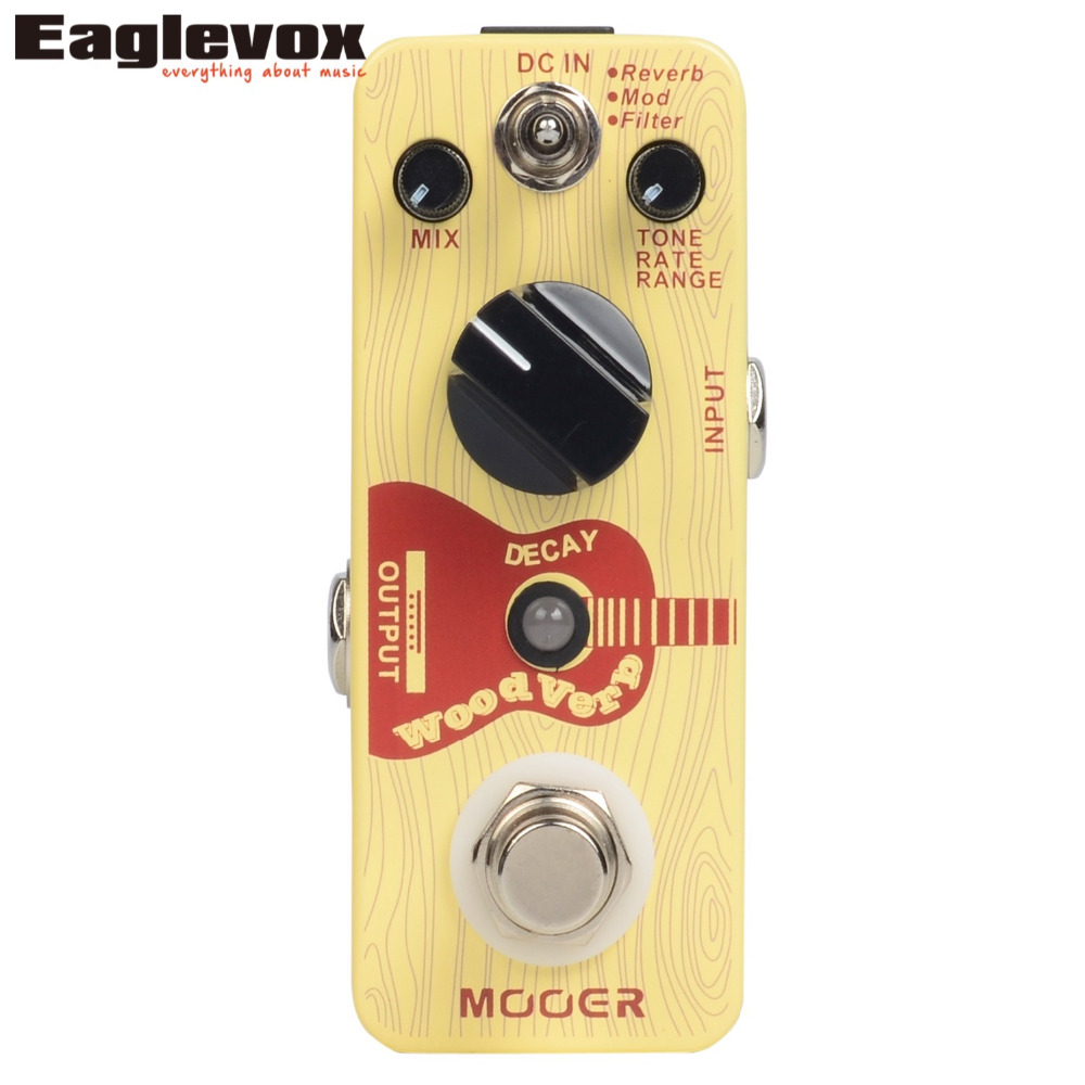 Mooer Wood Verb Reverb Digital Effects Acoustic Guitar Effect Pedal True bypass MRV3 mooer ensemble queen bass chorus effects effect pedal true bypass rate knob high quality components depth knob rich sound