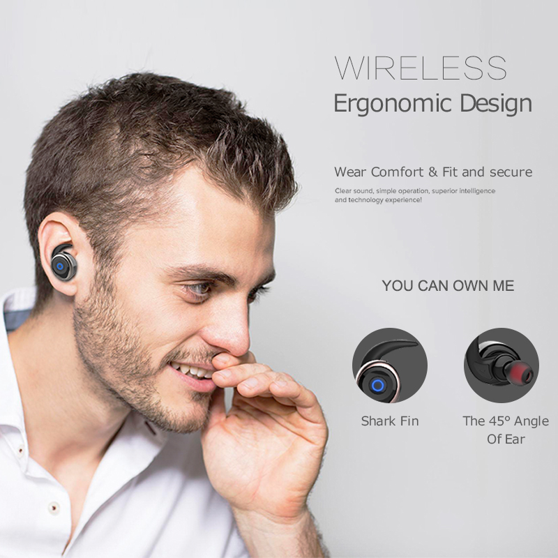 AWEI T1 TWS Bluetooth Earphone Ture Wireless Earbuds In-Ear Earpiece With Mic Stereo Mini Handsfree Headset For Phone With MIC 3