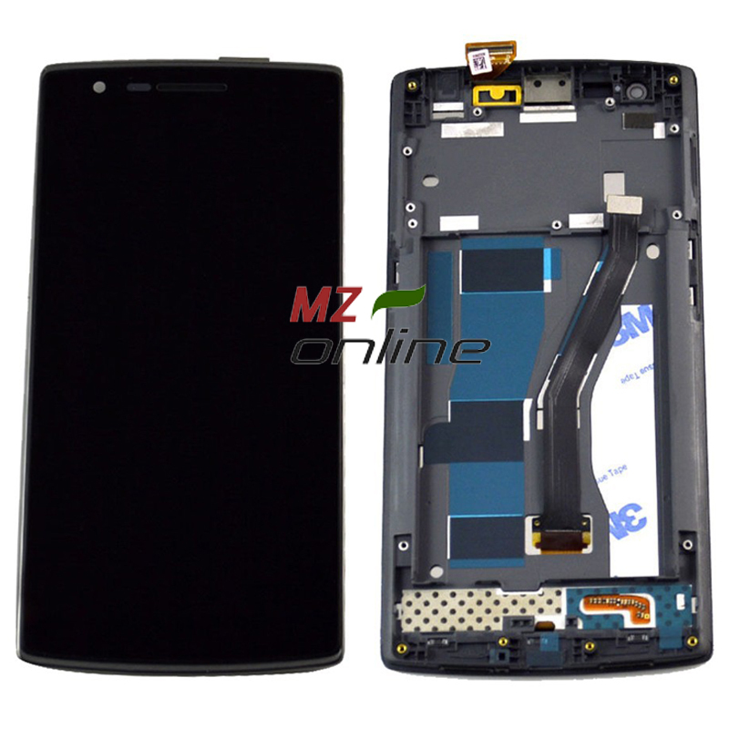 OEM Touch Screen Display for Oneplus one LCD Touch Screen Digitizer Front Frame Assembly Replacement Black