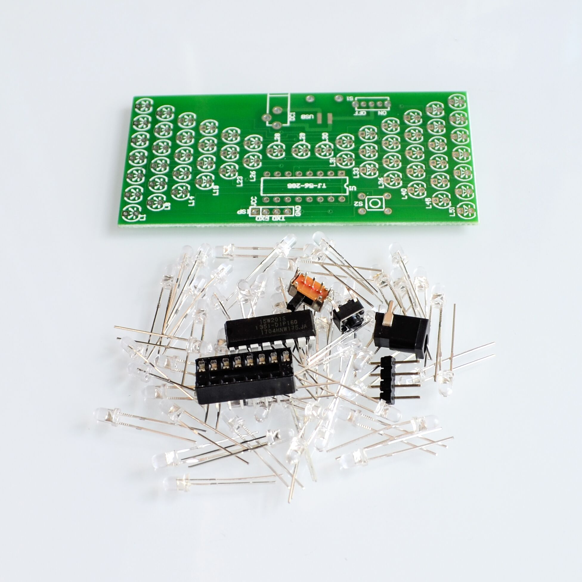 Wavgat At89c2051 Digital 4 Bits Electronic Clock Circuit Production Project Diy Suite Kits Module Board 5v Hourglass Kit Funny Electric Precise With Led Lamps Double Layer Pcb