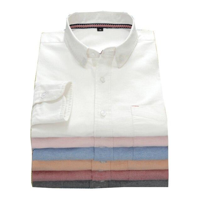 High quality Cotton Men's Shirts Long Sleeve Male Casual Business Shirts Dress Shirt For Man 4XL 5XL