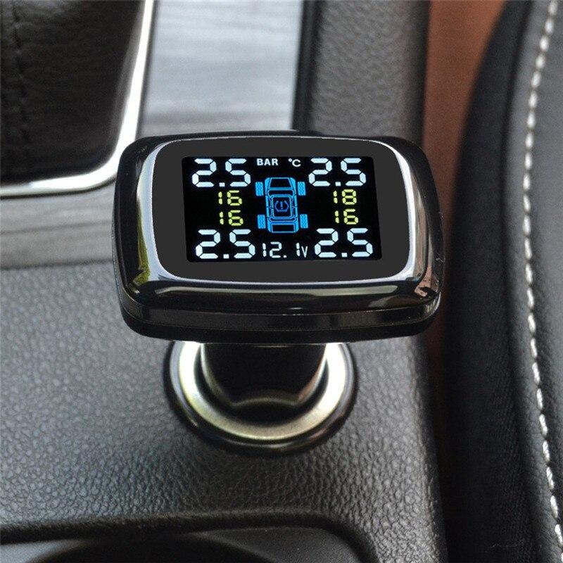 Обновление цифровой системы мониторинга давления в шинах 12 В в режиме реального времени Professional wireless Smart TPMS шиномонтажный Манометр с 4 датчик...