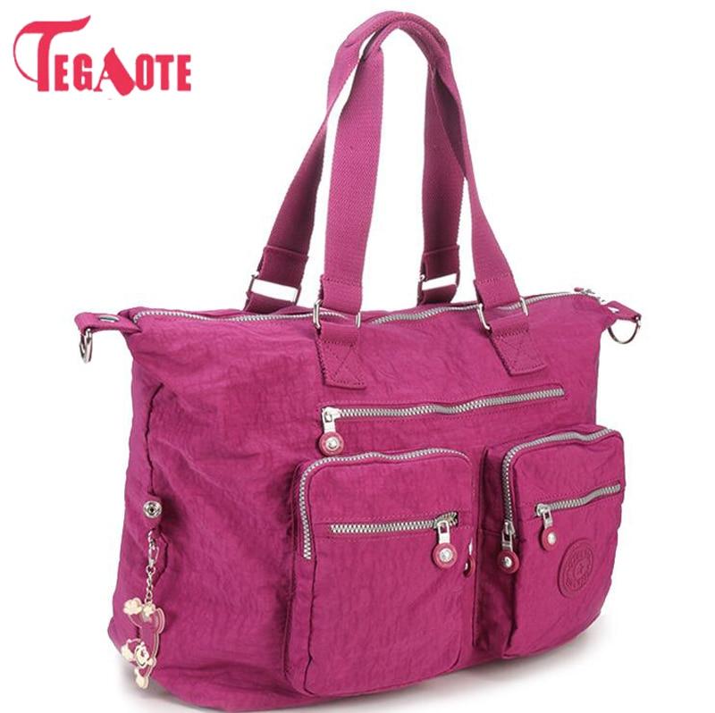 TEGAOTE 2017 Top-handle Bags Handbag Women Famous Brand Casual Tote Zipper Female Shoulder Bag Solid Summer Beach Bag Sac A Main