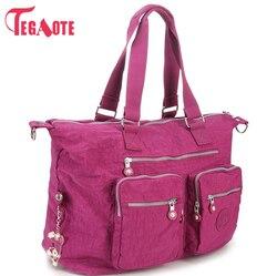Tegaote 2017 sacos de alça superior bolsa feminina famosa marca casual bolsa com zíper feminino bolsa de ombro sólido verão saco de praia sac a principal