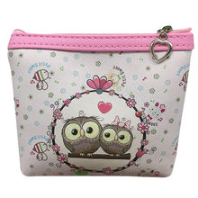 2018 Hot Sell Womens Cat Purse Kawaii Bag Owl Wallet Card Holder Coin Purse Clutch Purse For Girls Monederos Portefeuille Femme(China)