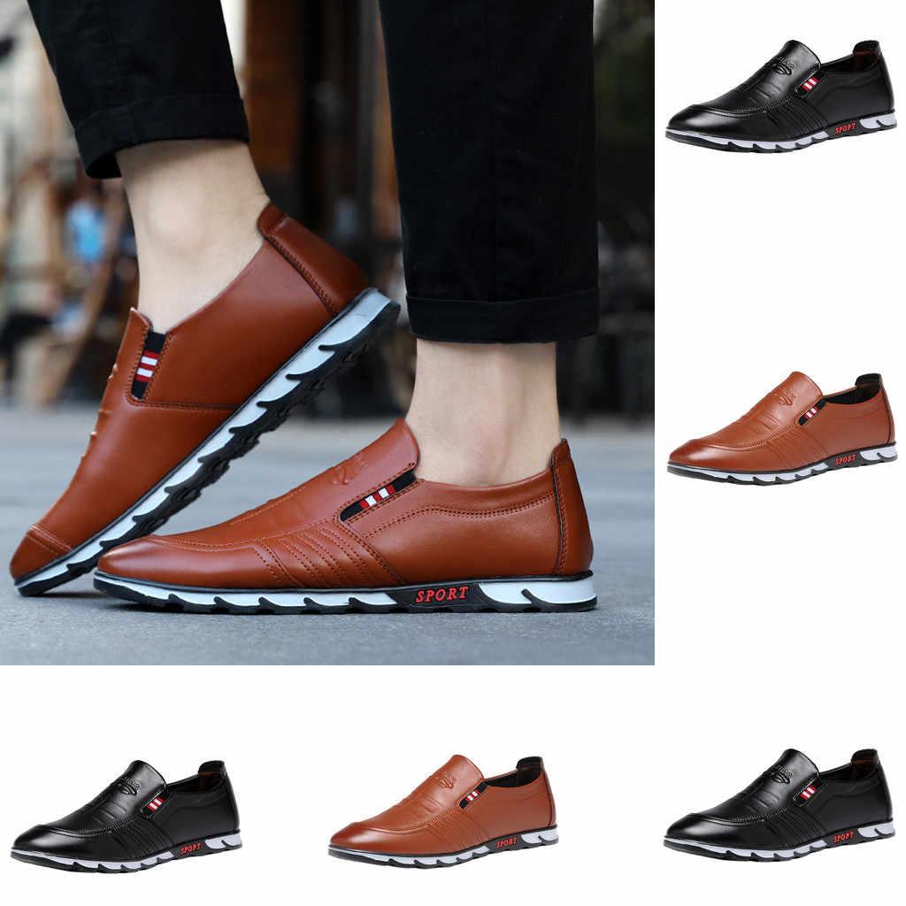 JAYCOSIN mannen Jurk Schoenen mannen Gentleman Comfortabele Mode Britse Stijl Lederen Schoenen Britse stijl Formele Oxford MAY3