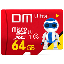 DM การ์ดหน่วยความจำสำหรับโทรศัพท์มือถือ Micro SD card Class10 TF card 64 gb 80 เมกะไบต์/วินาที TF card สมาร์ทโฟนแท็บเล็ตกล้อง