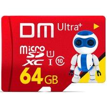 DM זיכרון כרטיסים לטלפון נייד מיקרו SD כרטיס Class10 TF כרטיס 64 gb 80 Mb/s TF כרטיס Smartphone Tablet מצלמה