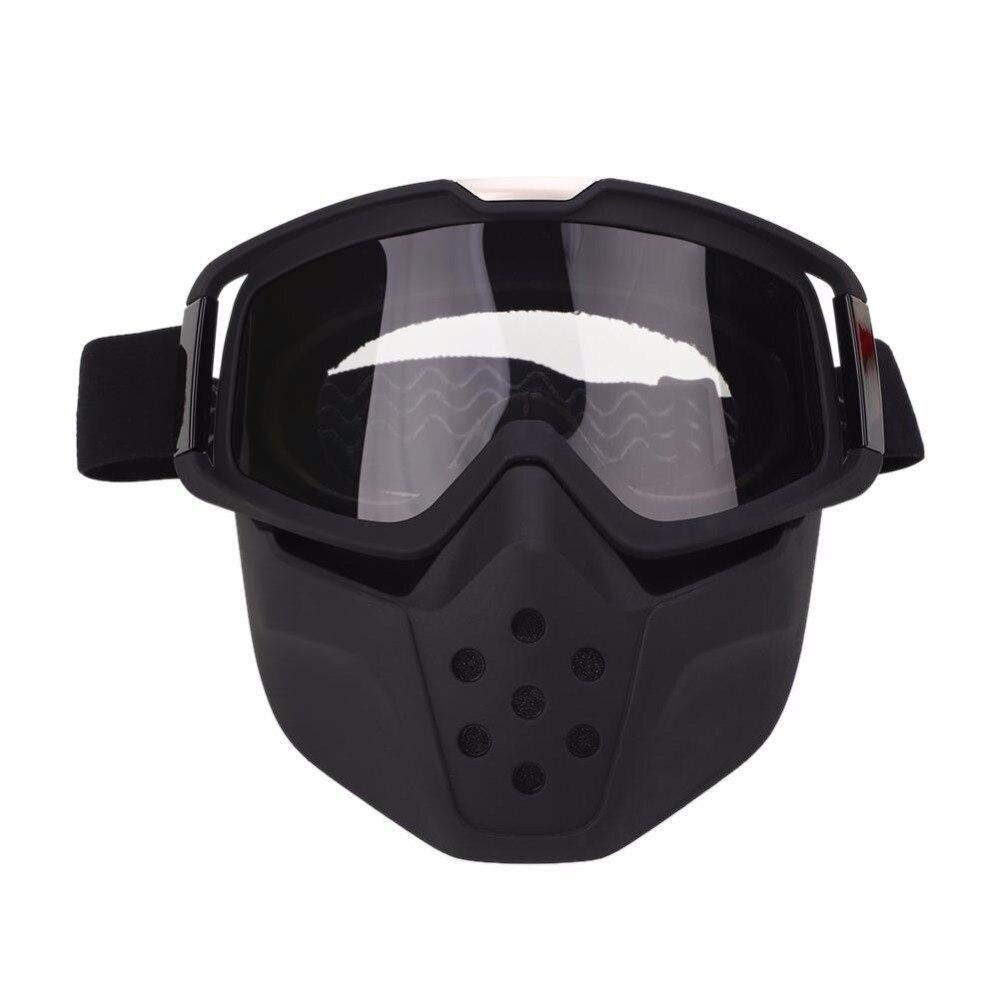 WoSporT ветрозащитный Очки для лыжного спорта Лыжный Спорт маска пыле мотоциклетные Уход за кожей лица маска Съемный очки рот фильтр