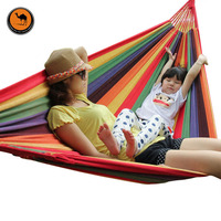 280 150CM High Strength Portable Outdoor Hammock Parachute Fabric Garden Sports Home Travel Camping Swing Canvas