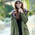 Женская мода Осень зима старинные капюшоном пальто женский harajuku тонкий средней длины Ветровка женская пальто и пиджаки LX6189
