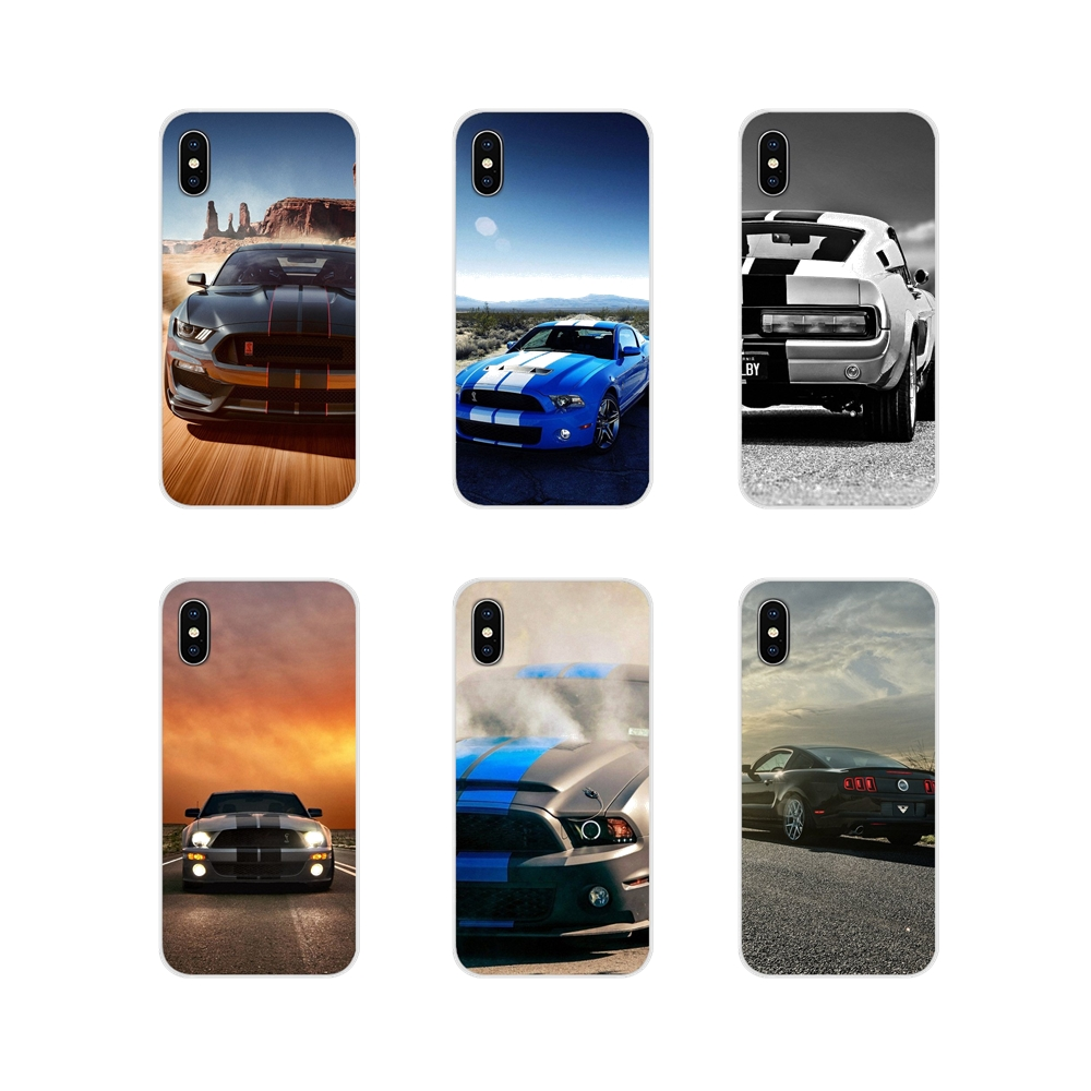 Accessories Phone Cases Covers For Huawei P Smart Mate Honor 7A 7C 8C 8X 9 P10 P20 Lite Pro Plus ford mustang shelby car