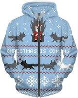 Christmas Is Coming Hoodie spring winter hoodie long sleeve Christmas fashion zip up hoodie Mens clothing drop ship best gift