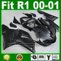 Все матовый плоский черный Обтекатели для Yamaha YZF R1 2000 2001 Дешевые комплект обтекателей YZFR1 00 01 1000 YZF R1 кузова комплекты пластиковые части