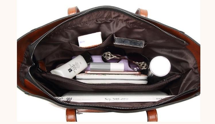 Bolsa de couro genuíno bolsas de couro