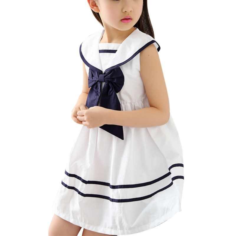 2c58c337412e0e3 ... Детская одежда девушка лето дети короткий рукав принцесса темно-школа  ветер платье Детская одежда белый ...