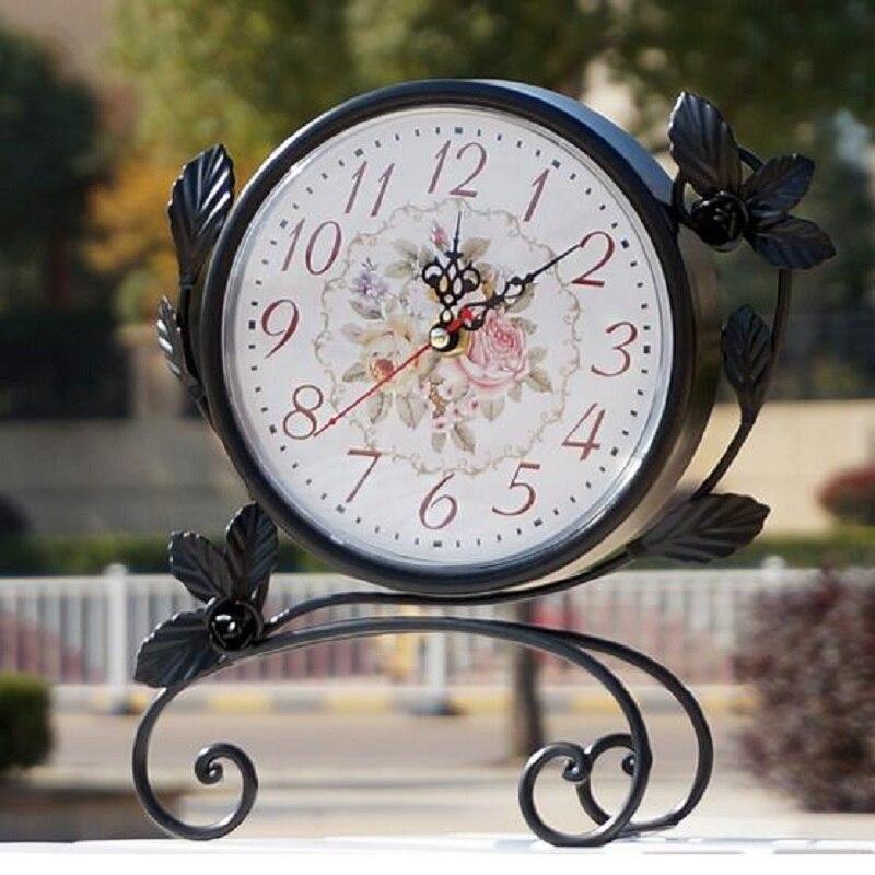 Desk & Table Clocks Apprehensive 2016 European Retro Table Clock Metal Desk Clock Creative Saat Digital Clock Reloj Reveil Clocks Masa Saati Relogio De Mesa Klok Sophisticated Technologies