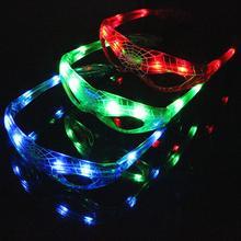 Светодиодный светящийся очки с 3 огнями Человек-паук, вечерние украшения, креативные светящиеся очки, детские игрушки, товары для нового года и дня рождения